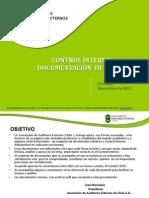 Documentos de Control Interno