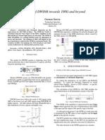 DWDM 100Gb PM-QPSK evolution
