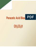 Peracetic Acid Bleaching