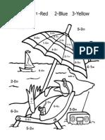penguin subtraction worksheet