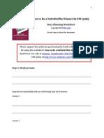 NaNoWriMo Story Planning Worksheet