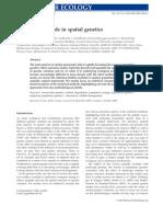 Statisics for Spatial Genetics