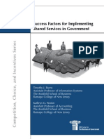 Success Factors for Implementing Shared Services In Government