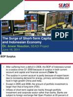 Anwar Nasution The Surge of Short Term Capital Inflow