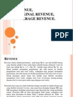 Revenue, Marginal Revenue, Average Revenue
