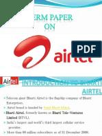 30069090 Bharati Airtel Marketing Research Paper Ppt