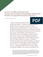 Arendt-Manusia Politis Menurut Hannah Arendt - Edisius Public Lecture at SALIHARA