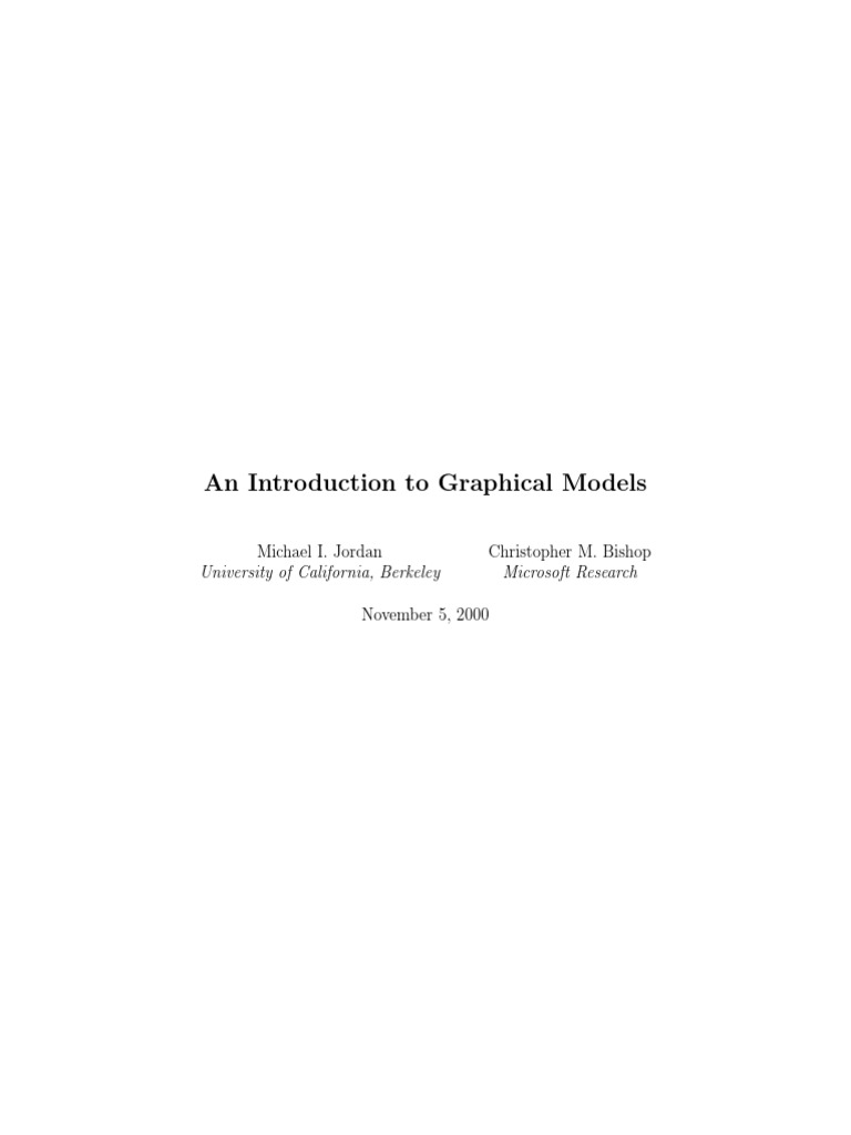 Chapter 2 Graphical Models Jordan | Bayesian Network | Probability ...