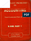 Important Problems in Accounting