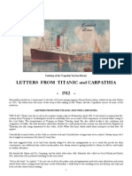 Titanic - Letters From the Titanic and Carpathia - 1912