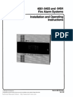 4001 9403 9404 Installation Operating Manual