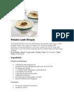 Potato Leek Bisque