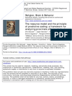 The Resource Model and the Principle of Predictive Coding_a Framework for Analyzing Proximate Effects of Ritual