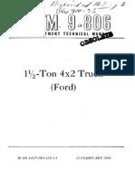 TM 9-806  FORD 1,5 TON G8T