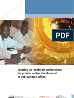 Creating an Enabling Environment for Private Sector Development in Subs Aha Ran Africa