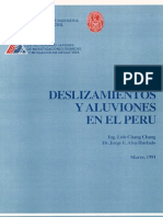 Deslizamientos y Aluviones en El Peru