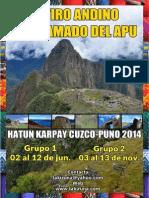 Retiro andino del llamado del apu - Cuzco 2014
