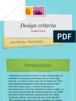 Design Criteria Auditoriums