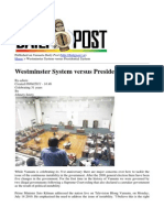 2011 Vanuatu Daily Post - Westminster System Versus Presidential System