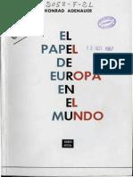 Adenauer El Papel de Europa en El Mundo