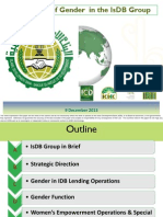 Overview of Gender in the IsDB Group
