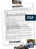 Dear Teachers Letter