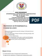 komunikasi intrapersonal dan interpersonal