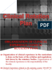 Clinical Rotation Plan
