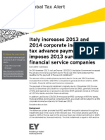 2013G_CM4021_Italy Increases 2013 and 2014 Corporate Income Tax Advance Payments