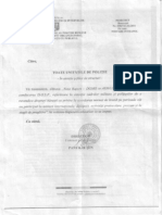 Nota Raport  din 2011 privind norma de Hrana pentru politisti in misiuni internationale