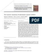 The Turnover Intentions of Information Systems Auditors