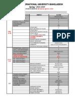 Final Exam Schedule of Spring 2012-13 Apr.12
