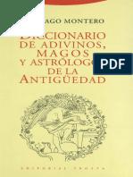 Montero Santiago - Diccionario de Adivinos Magos Y Astrologos de La Antiguedad