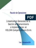 Implementacion Gestion Mantenimiento Volcan_BUENAZA