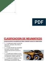 Clasificacion de Neumaticos