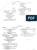 Obstetrics and Gynecology question papers
