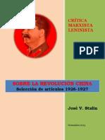 Stalin - Sobre la Revolución China (1926-1927)