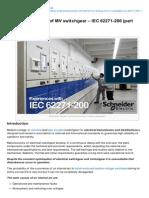Eep-Internal Arc Testing of MV Switchgear IEC 62271200 Part One