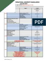 Undergraduate Final Exam Schedule of Fall 2013-14-2