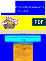 Food adulteration and food safety