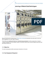 Eep-Testing and Commissioning of MetalClad Switchgear