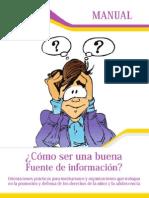 Manual Como Ser Una Buena Fuente de Informacion