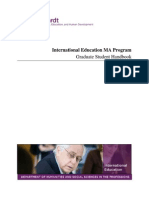 Nyu International Education Graduate Student Handbook