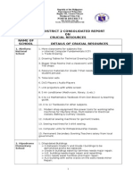 District Consolidated Report on Crucial Resources