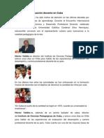 Educación y evaluación docente en Cuba
