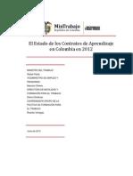 El Estado de Los Contratos de Aprendizaje en Colombia en 2012