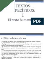 Los textos humanísticos