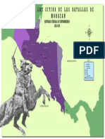 Mapa Batallas Francisco Morazan