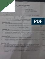 7th Semester Midterm Paper