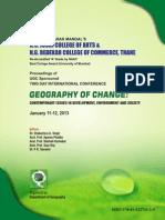 Geography of Change Proceedings Jan.2013